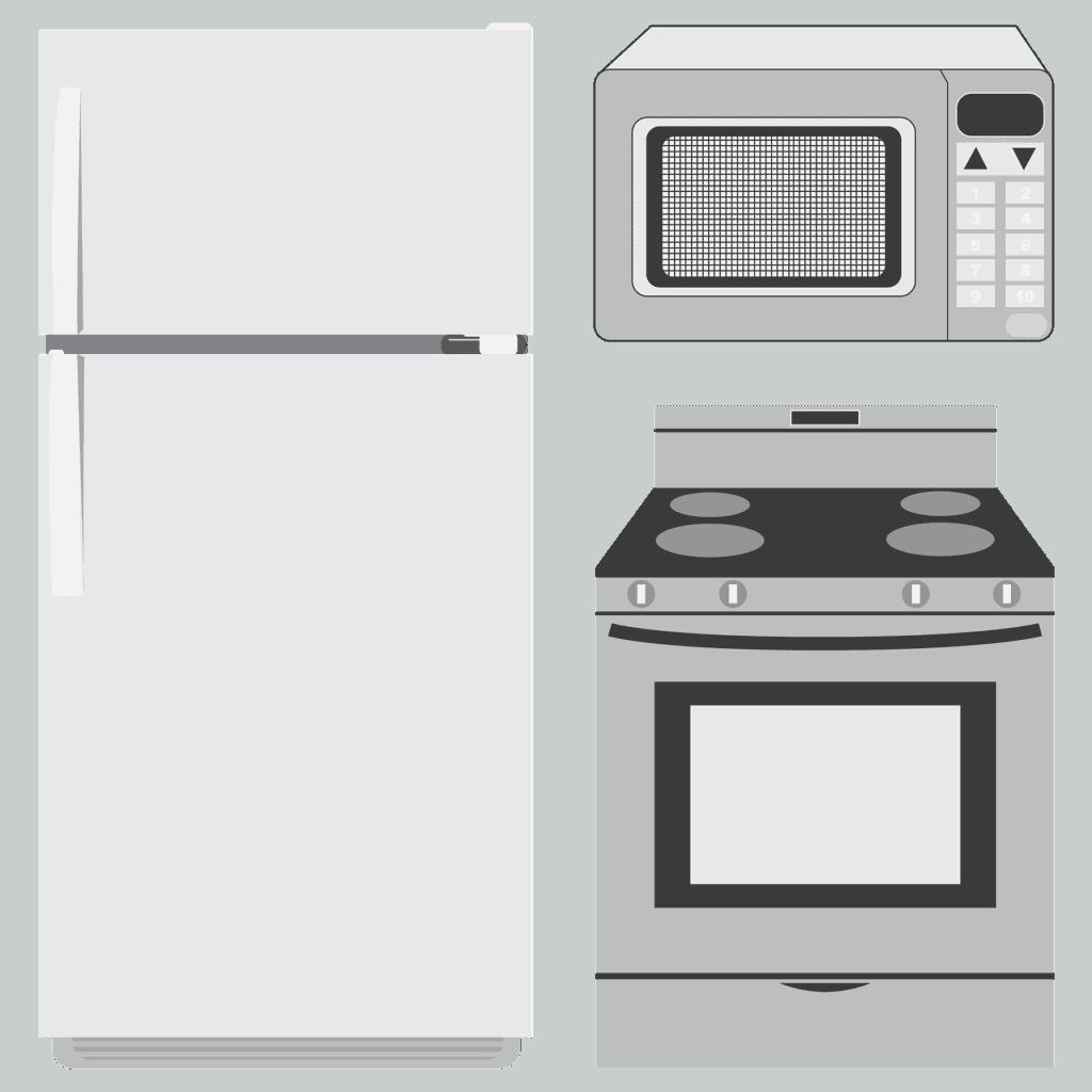 תנור מיקרוגל ומקרר